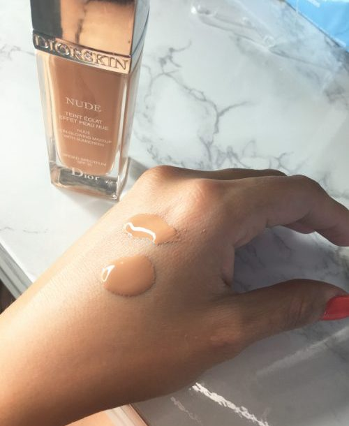 Diorskin nude foundation application