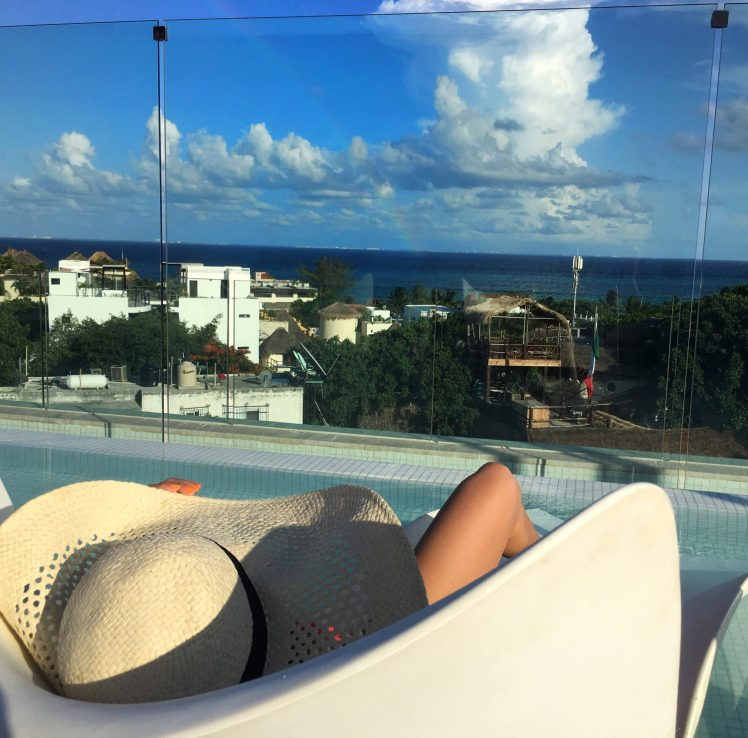 Paola Playa del carmen thompson hotel roof top
