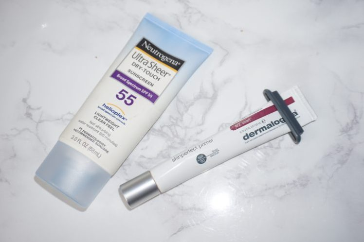 Sunscreen Neutrogena and Dermalogica